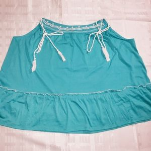 Lane Bryant teal tank top Sz 18/20